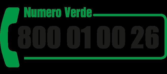 Numero verde 800 01 00 26